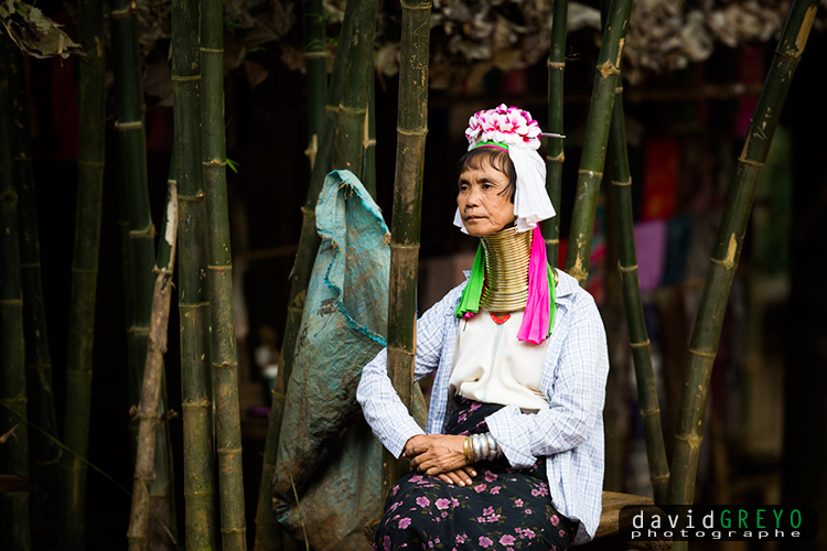 Femmes-girafes de la tribu des Karen